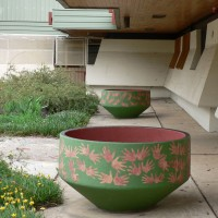 Drainage pots  and artwork