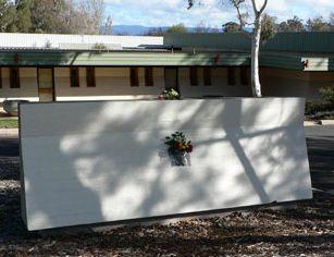 Memorial to John Flynn painted over